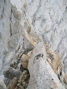 Rock Climbing Photo: Approaching the rappel.