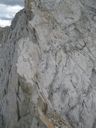 Rock Climbing Photo: Lower portion of the class 4 face to the summit.