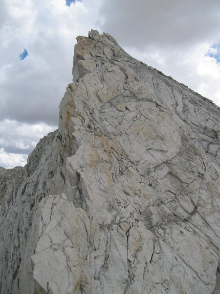 Rock Climbing Photo: Upper portion of the class 4 face to the summit. T...