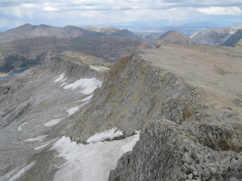 East Ridge of Conness as seen from the summit.