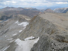 Rock Climbing Photo: East Ridge of Conness as seen from the summit.