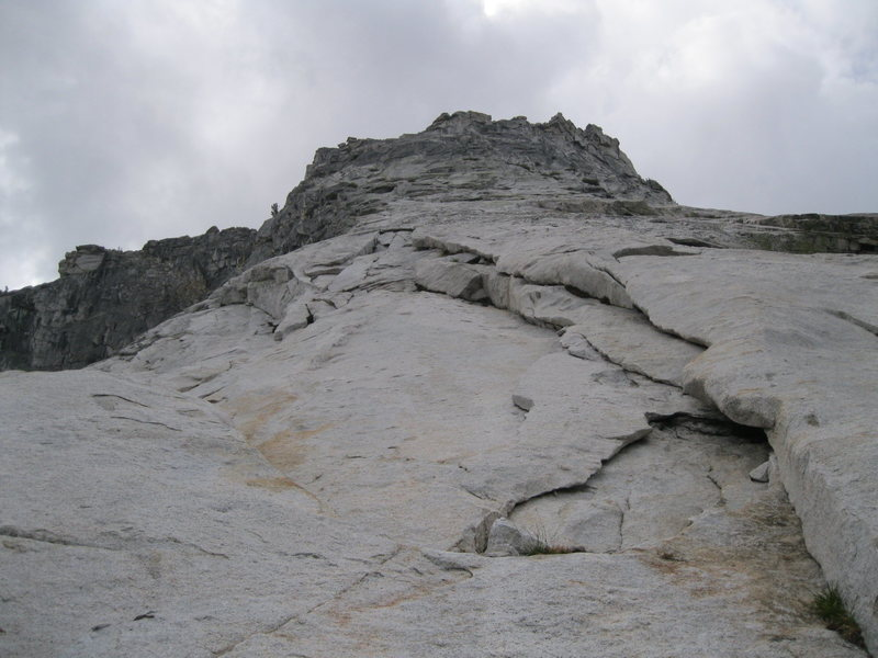 Rock Climbing Photo: Looking up the route. If you choose to rope up thi...