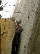 Rock Climbing Photo: p3.helmet is too wide to squeeze