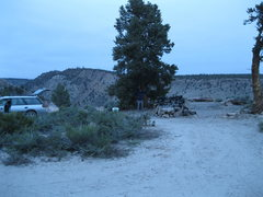 Rock Climbing Photo: Some damn fine FREE campsites along the upper gorg...