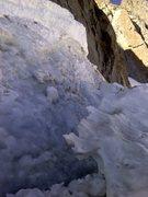 Rock Climbing Photo: Bergschrund right