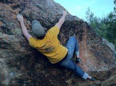 Rock Climbing Photo: Working through Pablo's Ostrich.