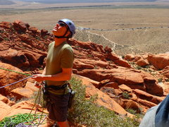 Rock Climbing Photo: Belaying at Great Red Book