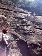 Rock Climbing Photo: Belaying at the New