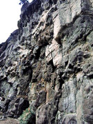 Rock Climbing Photo: Ascends the steepest portion of the line just left...