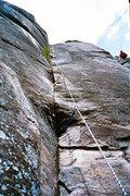 Rock Climbing Photo: P2 second comming