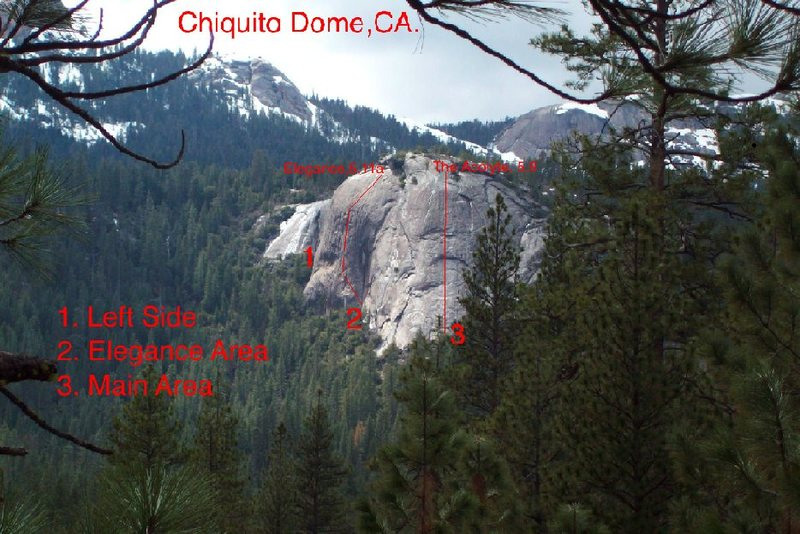Map of Chiquito Dome