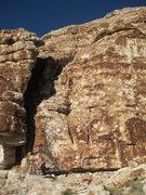 "Rock Climbing Photo: FA of ""Access Crack"". 11/19/12"