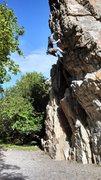 Rock Climbing Photo: Zero rope drag on Chicago Overhang - Peter Duckett