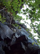 Rock Climbing Photo: The start of the 'D' Route follows the corner past...