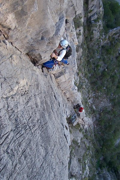 Rock Climbing Photo: Rusty Baillie on the third pitch of Access Denied.