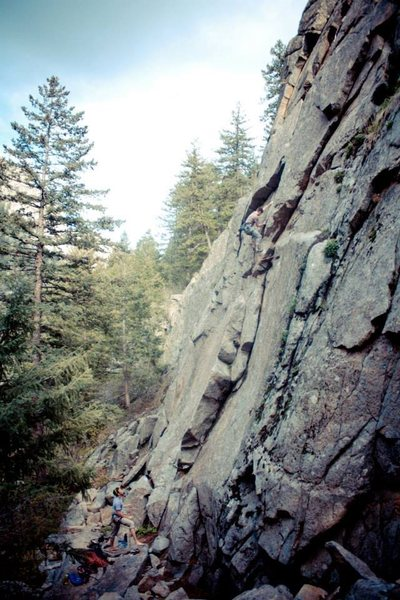 Rock Climbing Photo: Good shot of the route.