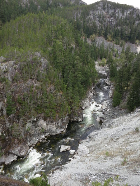 Rock Climbing Photo: The Cheakamus River from the top of Star Chek