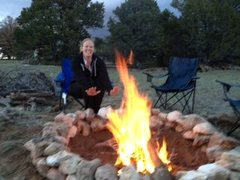 Rock Climbing Photo: queen of the firepit