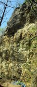 Rock Climbing Photo: Rope hanging on Piranha.