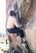 Rock Climbing Photo: Rodger bouldering the start of Hermanutic, Spring ...