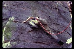 Rock Climbing Photo: Richard Goldstone at start of Richard's Reprieve, ...