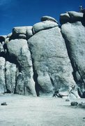Rock Climbing Photo: Northern end of Trashcan Rock West face, with The ...