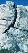 Rock Climbing Photo: Good sidelighting accentuates the cracks on the ro...