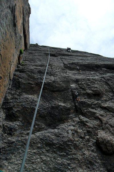 Rock Climbing Photo: Brenda on pitch 2.