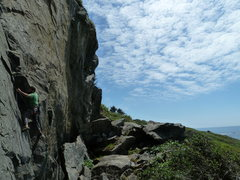 Rock Climbing Photo: Making the second clip on Whale Nation.