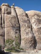 Rock Climbing Photo: Toe Jam Express is the center crack below the clim...