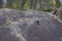 Rock Climbing Photo: Some slab for young and ...