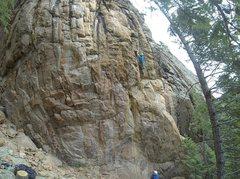Rock Climbing Photo: In the steep corner.