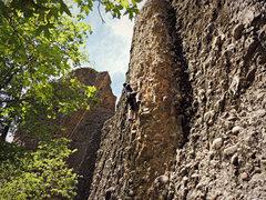 Rock Climbing Photo: Jill, warming up for the day. (Nikon PL510)