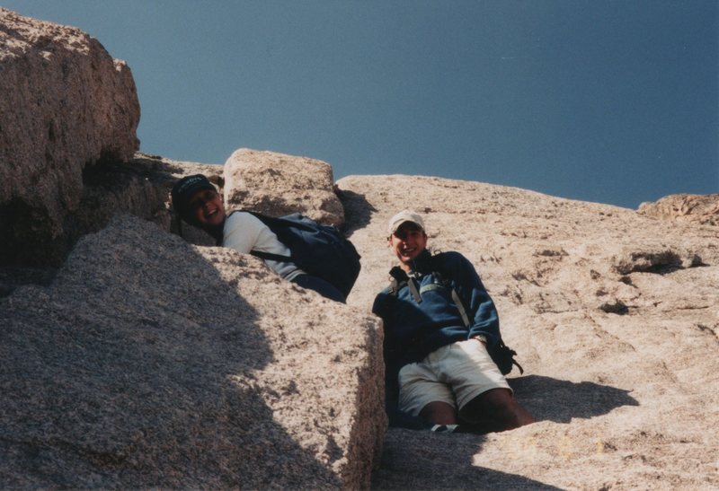 Rock Climbing Photo: A friend, Amy Myers, and I fourth-classing up the ...