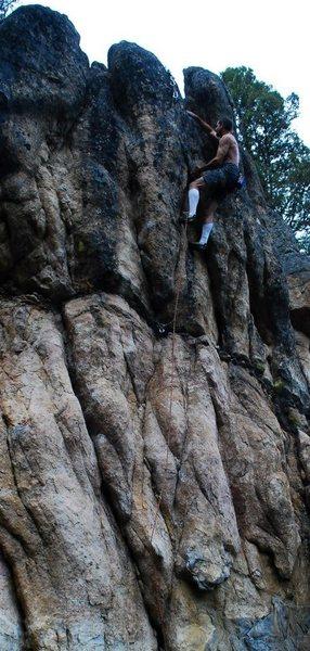 Rock Climbing Photo: J. Griffin wrestling.