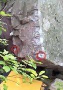 Rock Climbing Photo: Low sit-start