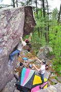 Rock Climbing Photo: Dobbe on Sail Away