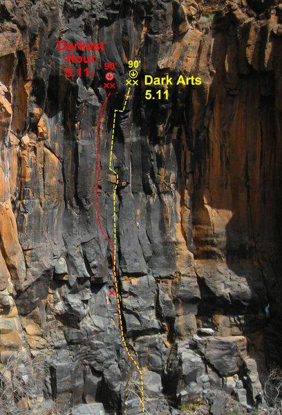 Rock Climbing Photo: Darkest Hour photo topo.