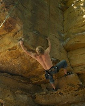 Rock Climbing Photo: Projecting Ragged Edge back in the day. Great Clim...