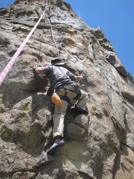 Fredrik using the great Chickenhead holds. Great route for the rusty or novice.