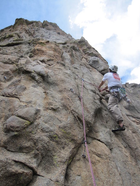 Rock Climbing Photo: 3rd bolt of Fly in the Ointment, strenuous for the...