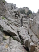 Rock Climbing Photo: Don't forget that you can rap down from the upper ...