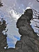 Rock Climbing Photo: Squawk diagonals up the steep north face, turning ...