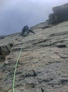 Rock Climbing Photo: Ken head out up to the left of the boxcar. His cho...