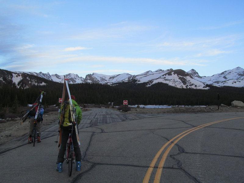 Rock Climbing Photo: Brainard Lake Road conditions.
