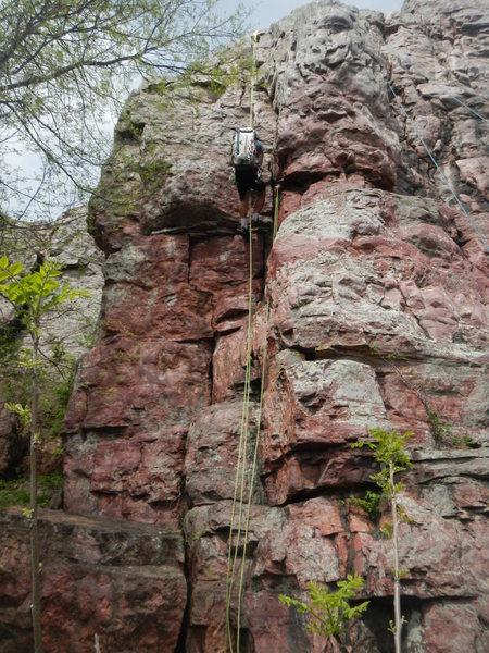 Rock Climbing Photo: Rapping Pedestal Left