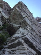 Rock Climbing Photo: The arete and roof