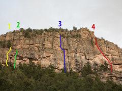 Rock Climbing Photo: 1. Jokers Wild. 2. Cool Hand Luke. 3. Hummingbird....