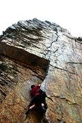 Rock Climbing Photo: the sun making the rock at goodros wall glow