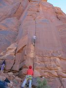 Rock Climbing Photo: moving up